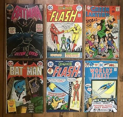 Dc 1970s Batman/ The Flash/ Green Lantern/worlds Finest Good Condition (6)