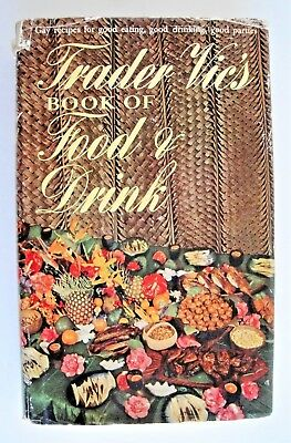 Trader Vics Book of Food and Drink 1946 HC/dj Doubleday Company Vintage Barware
