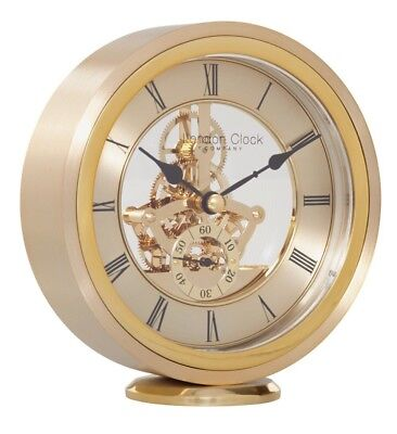 London Clock Company Round Carriage Clock, Gold - New and Boxed - RRP £85