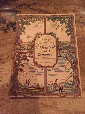 Through The Seasons with Seagram's Drink & Recipe Book 1937 by Seagram's