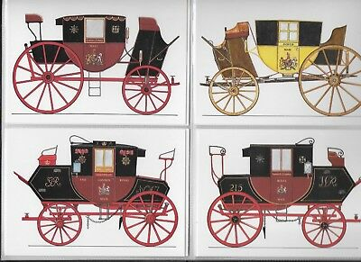 Picture Postcards, Royal Mail Coach SET OF 9 by Richard Blake