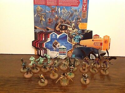 Heroscape Dawn of Darkness all 4 sets complete with cards 24 figures Kee-Mo-Shi+