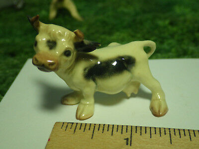 Old Hagen Renaker Mini Black and White Cow