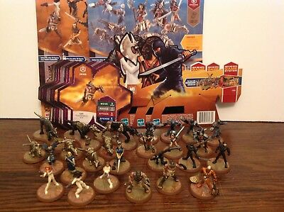 Heroscape Thora's Vengeance all 4 sets complete with cards 26 figures Spartacus+