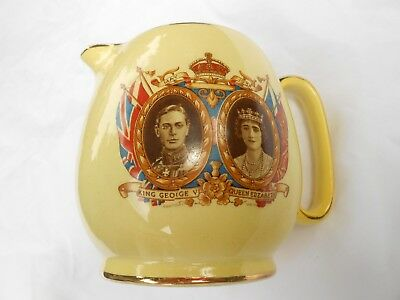 """King George VI & Queen Elizabeths visit to usa and canada 1939 41/2"""" tea pitcher"""
