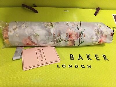 """NEW Ted Baker Oriental blossom compact Umbrella Grey BNWTS great gift """"LIZZOE"""""""