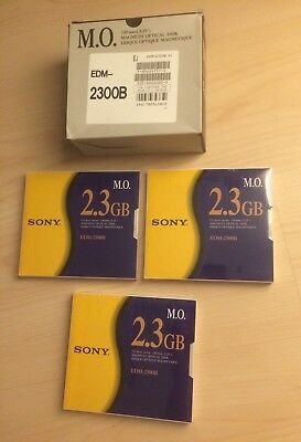 "*NEU*1von3* Sony EDM-2300B 5,25"" MO Disk 2,3 GB Data Cartridge Datenkassette"