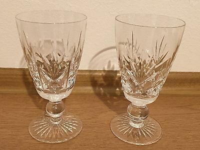 "VINTAGE PAIR OF STUART CRYSTAL ""ARGYLL"" 5 INCH WINE GLASSES Made in England"