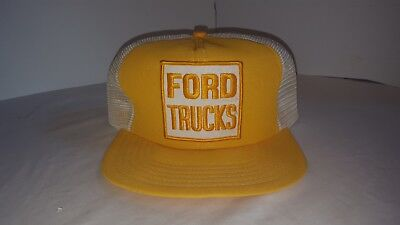 Ford Trucks Hat Vintage 1970's Promo Wear Made In Canada Snap Back Trucker Hat