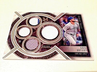 Kris Bryant 2018 Topps Museum Collection Silver Quad Game Used Jersey #/99 Cubs
