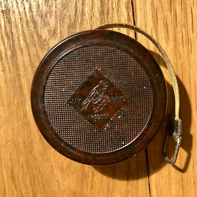 Vintage Brown Bakelite Tape Measure In Inches By Jay Brand,made In England