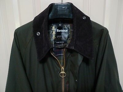 Barbour-   Classic Beaufort  Waxed Cotton Jacket -Olive- Made @ England-Size 48