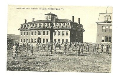 1911 Northfield Vermont View Of Norwich University - Cadet Butts Rifle Drill