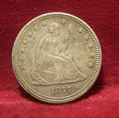 1877 Seated Quarter From My Type Set- Nice Grade
