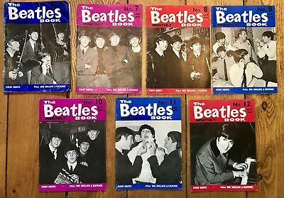 the beatles monthly book Group Run Number 6-12 V Good Condition (7)