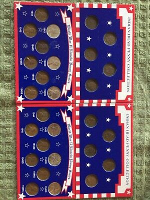 Lot Of USA Cents Indian Head And WWII Collection 28 Coins Look At Dates