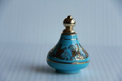 Perfume Bottle Dabber Grecian Art Decoration Gold Trim Vanity Table  Bottle