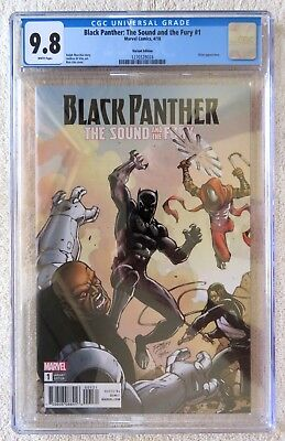Black Panther Sound And The Fury #1 CGC 9.8 Ron Lim variant cover 2018 marvel