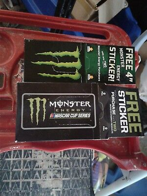 Monster Energy Stickers - Nascar Cup Series And 4 Inch Claw - 1 Box Each - Over