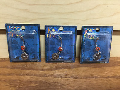 Lot of 3 * LOTR Lord of the Rings 14 gauge steel Belly Button Navel Piercing NEW