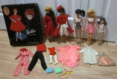 Vintage Barbies, Bubblecuts, #4 Ponytail, Skooter , Stacy, Case & Clothing Etc