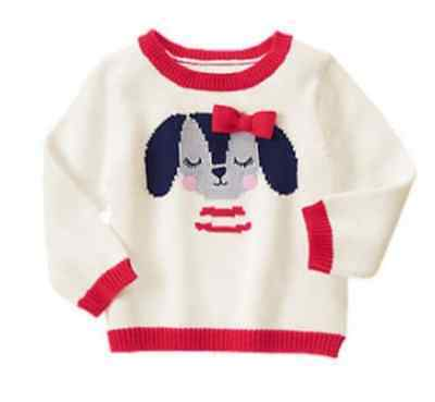 *new* Gymboree Little Girl 2T 3T 4T Fun At Heart Cute Puppy Dog Pullover Sweater