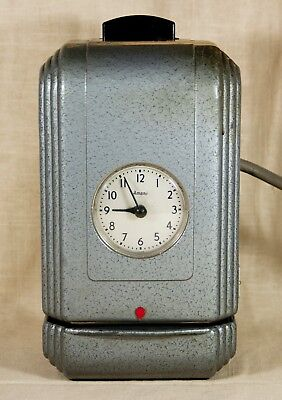 Vintage Amano Art Deco Style Time Recorder Punch Clock Industrial Works