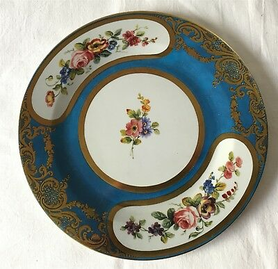 "Elite Gift Boxes Wallace Collection 10"" Tin Faux SEVRES PORCELAIN SAUCER 1774"