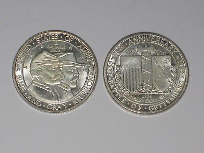 Half Dollar 1936 Anniversary Battle of Gettysburg Blue and Grey Reunion