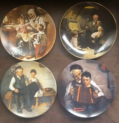 Vintage  Knowles Norman Rockwell Collectors Plates. Set of 4