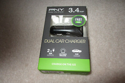 pny 3.4amp dual car charger