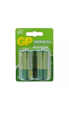2 X GP Greencell Extra Heavy Duty D-size Batteries