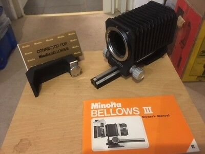 Minolta BELLOWS III for Minolta SR - Boxed with Owner's Manual