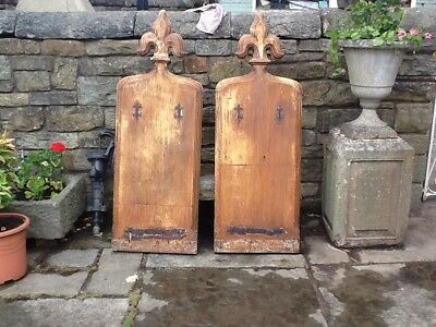 A Lovely Pair Of Early Victorian Pine Church Pew Ends C 1837