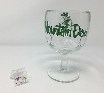 Vintage Mountain Dew Drinking Goblet / Glass - It'll Tickle Yore Innards! (R)