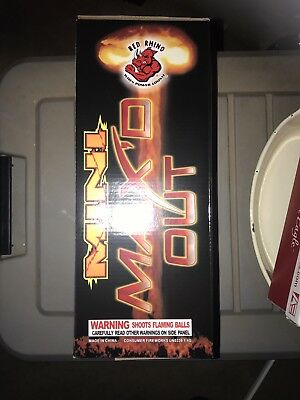 Red Rhino Mini Max'd Out Cans Fireworks Label  Graphic Mortar Tube And Box Only