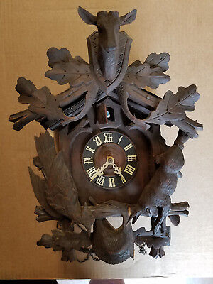 Vintage Henry Coehler Hunters Coo Coo Clock Made in Germany Restoration Needed