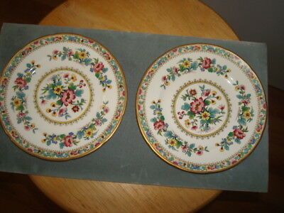 2 - COALPORT Bone China Bread and Butter Plates - Ming Rose