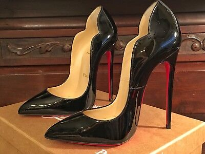 7f99531810e6 Christian Louboutin Hot Chick Black Patent leather High Heels 130 Size 36