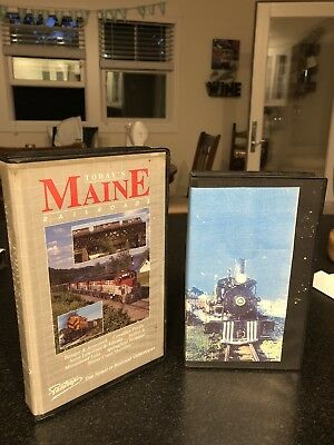 Today's Maine Railroads VHS/Short lines Of Maine VHS