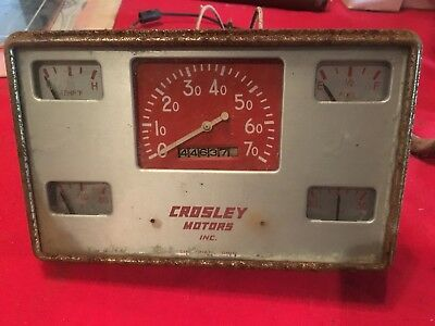 1950 Crosley Car Instrument Cluster Speedometer