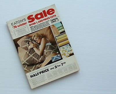 Eaton's Winter '76 Sale Catalogue 1976,fully Illustrated Colored