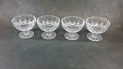 Crystal D Arques Longchamp Sherbert Ice Cream Dessert Bowls Set Of 4