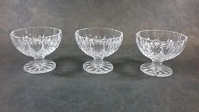Crystal D Arques Longchamp Sherbert Ice Cream Dessert Bowls Set Of 3