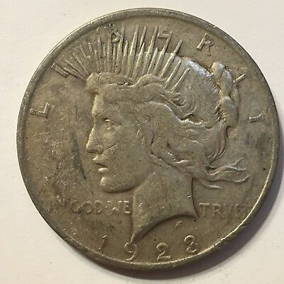 1923 P Silver Peace Dollar 90% Silver US Coin Philadelphia Mint PD3