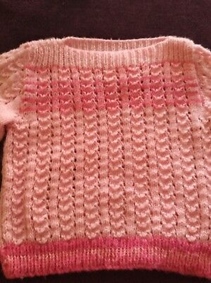 Pink knitted jumper Size 2-3