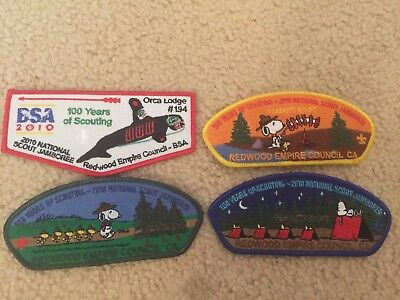 2010 Redwood Empire Council Snoopy JSP and Orca 194 Patch Set