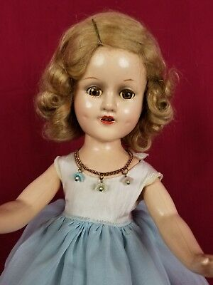 Vintage Madame Alexander 14in Sonja Henie Doll Skater Composition Original Dress