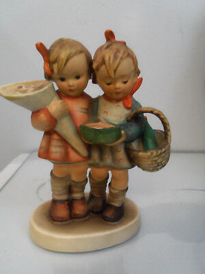 "Vintage GOEBEL HUMMEL ""GOING TO GRANDMA'S""YOUNG GIRLS W/GIFTS FOR GRANDMA"