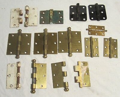 Mixed Lot of Antique Salvage DOOR HINGES including Stanley & McKinney